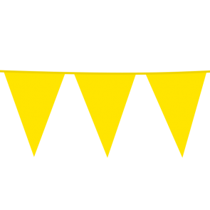 Giant Bunting PE 10m. yellow - size flags: 30x45cm