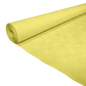 Paper tablecover 1,19x8m yellow