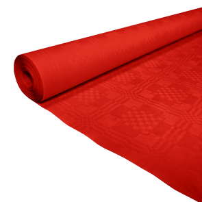 Paper tablecover 1,19x8m red