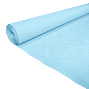 Paper tablecover 1,19x8m baby blue