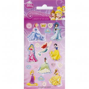 Party Stickers - 6 sheets - Disney Princess