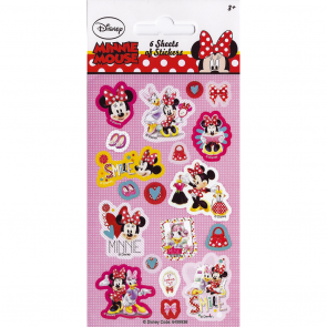 Party Stickers - 6 sheets - Minnie Mouse
