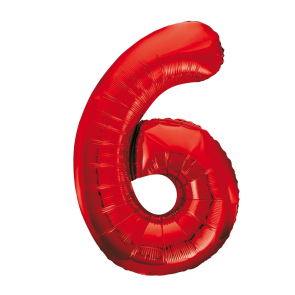 "Foilballoon No. 6, 34"" - red"