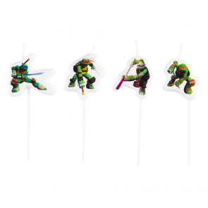 4 mini figure candles - Ninja Turtles