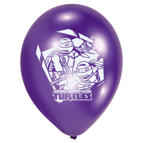 6 Printed Balloons - Ninja Turtles