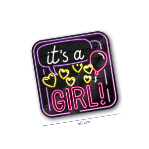 Neon Traffic Sign - It's a girl!