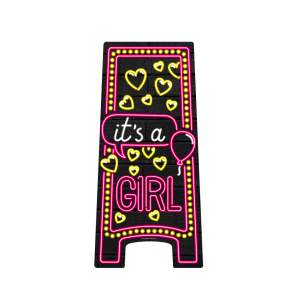 Neon Warning Sign  - It's a girl!