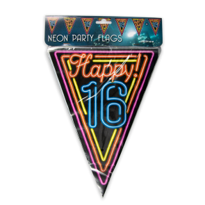 Neon party flag - 16
