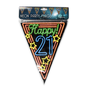 Neon party flag - 21