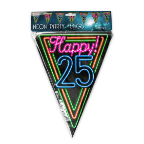 Neon party flag - 25