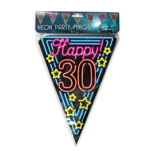 Neon party flag - 30