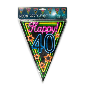 Neon party flag - 40
