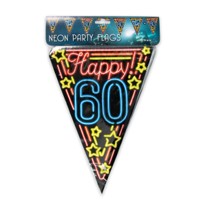 Neon party flag - 60