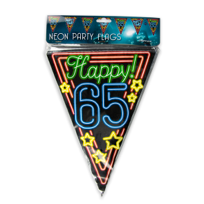 Neon party flag - 65