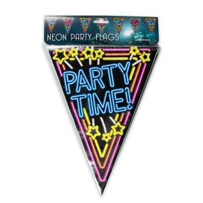 Neon party flag - Party time!