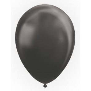 "10 Balloons 12"" metallic black"