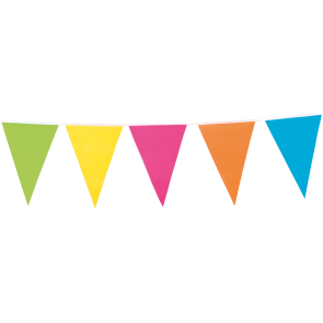 Bunting multicolor 10 m - no header