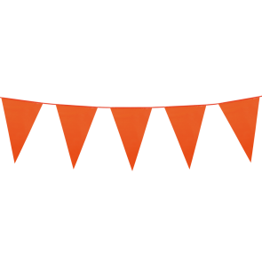 Bunting PE 10m. orange - size flags: 20x30cm