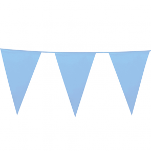 Giant Bunting PE 10m. baby blue - size flags: 30x45cm