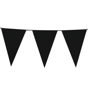 Giant Bunting PE 10m. black - size flags: 30x45cm