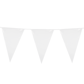 Giant Bunting PE 10m. white - size flags: 30x45cm