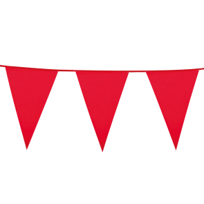 Giant Bunting PE 10m. red - size flags: 30x45cm