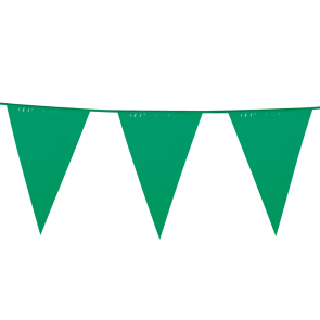 Giant Bunting PE 10m. green - size flags: 30x45cm