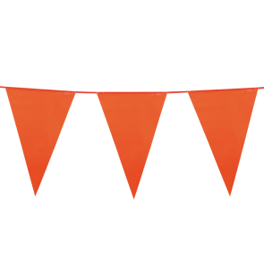 Giant Bunting PE 10m. orange - size flags: 30x45cm