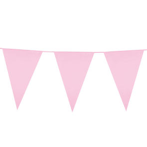 Giant Bunting PE 10m. pink - size flags: 30x45cm