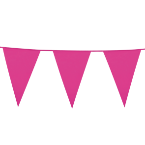 Giant Bunting PE 10m. hot pink - size flags: 30x45cm