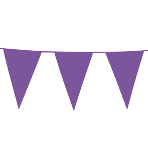 Giant Bunting PE 10m. purple - size flags: 30x45cm