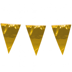 Giant Bunting metallic 10m. gold - size flags: 30x45cm