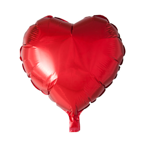foilballoon heartshape, 18'' - red, bulkpacked