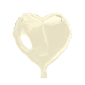 foilballoon heartshape, 18'' - ivory, bulkpacked