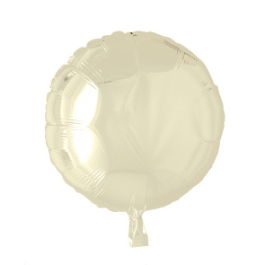 Foilballoon round, 18'' - ivory, bulkpacked