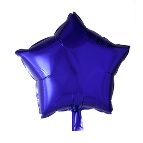 Foilballoon star, 18'' - purple, bulkpacked