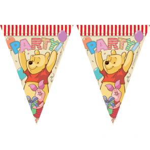 1 Triangle Flag Banner ( 11 flags ) - Winnie Alphabet