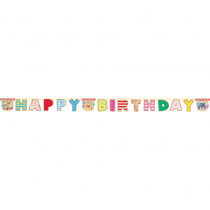 "1 Happy Birthday"" Die-cut Banner - Winnie Alphabet"""