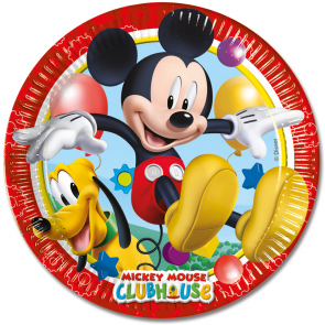 8 Paper Plates Large 23cm - Playful Mickey