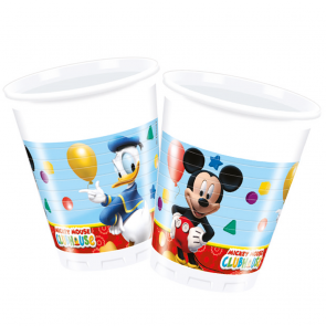 8 Plastic Cups 200ml - Playful Mickey