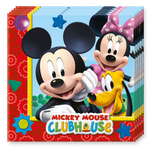 20 Two-Ply Paper Napkins 33x33cm - Playful Mickey