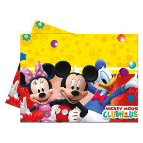 1 Plastic Tablecover 120x180cm - Playful Mickey