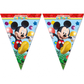 1 Triangle Flag Banner ( 9 flags ) - Playful Mickey
