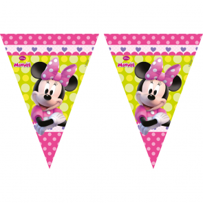 1 Triangle Flag Banner ( 9 flags )  -  Minnie Bow-Tique