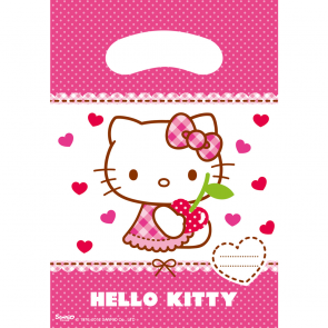 6 Party Bags - Hello Kitty Hearts