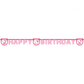 "1 Happy Birthday"" Die-cut  Banner - Hello Kitty Hearts"""