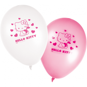 8 11 inches Printed Balloons - Hello Kitty Hearts