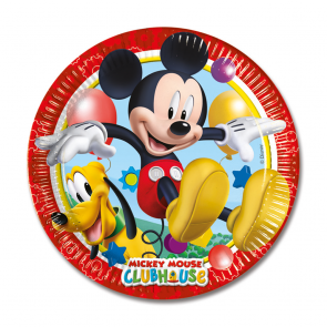 8 Paper Plates Medium 20cm - Playful Mickey