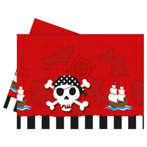 1 Plastic Tablecover 120x180cm - Pirate's Treasure Map