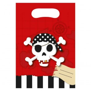 6 Party Bags - Pirate's Treasure Map